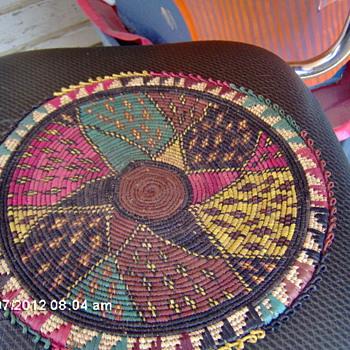 Antique Afrian Basket Tray???