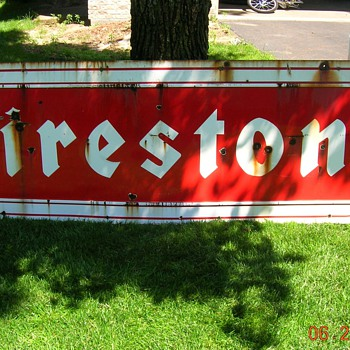1959 Firestone sign - Advertising