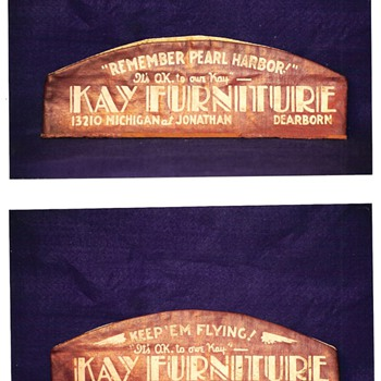"""It's O.K. To Owe Kay""  KAY FURNITURE Cap - Military and Wartime"
