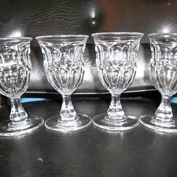 4 19th century flint ashburton goblets in mint condition - Glassware