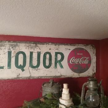 Coke/liquor sign