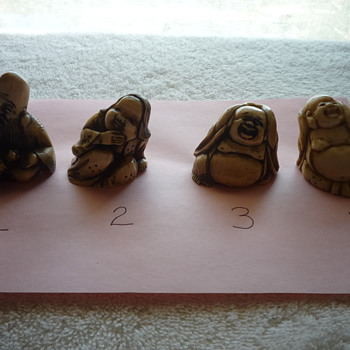 Some of the Netsuke I bought at auction...