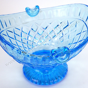 Blue Glass Bowl Type Ashtray