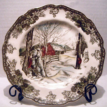 Friendly Village Plate - China and Dinnerware