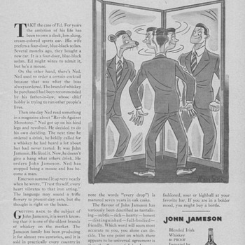 1955 John Jameson Irish Whisky Advertisements - Advertising