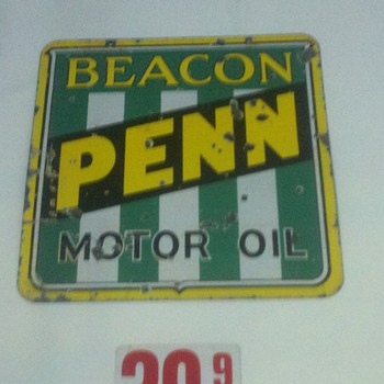 Porcelain Penn Beacon Oil sign