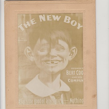 1894 Alfred E Neuman Cabinet Card - Posters and Prints