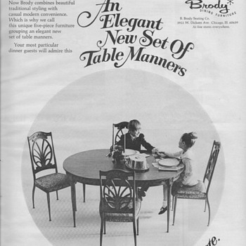 1968 - Brody Furniture Advertisement
