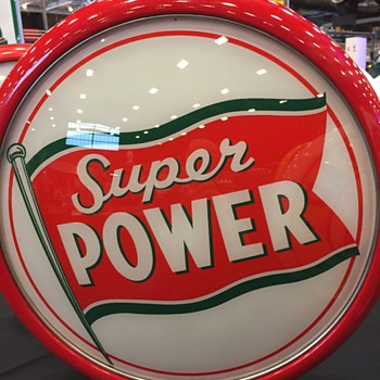 Radio Oil Super Power Globe (Rare) - Petroliana
