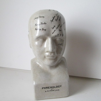 L. N. Fowler Phrenology Head - Victorian Era