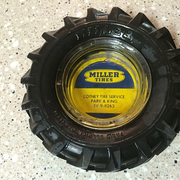 Miller Tire ashtray - Petroliana