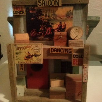 . L. Studtman Saloon Bird House - Folk Art