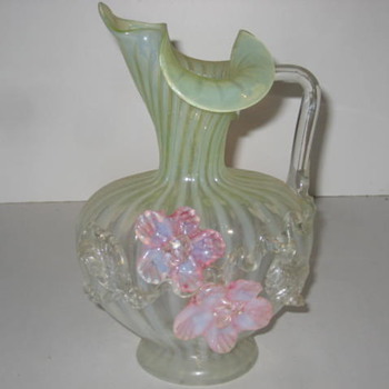 Glass Pitcher (hand blown) - Art Glass