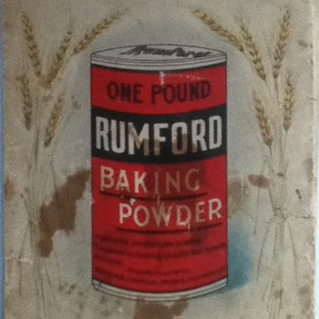 Vintage Rumford Baking Powder Recipe Book