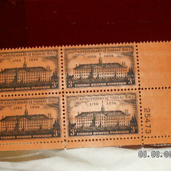 1956 Nassau Hall 200th Anniversary 3¢ Stamp - Stamps