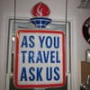 &quot;As You Travel Ask Us&quot; Double sided Lighted Sign