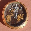 Pre-Georgian 1690s Faceted Stuart Crystal Memento Mori Mourning Slide