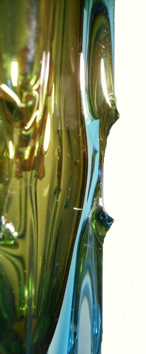Kamei Japanese Art Glass Vase Vintage With Label