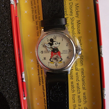 "Disney Shareholders ""Remake"" 1933/34 Mickey Mouse Wrist Watch"