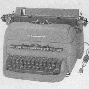 "1952 - Remington ""Electri-conomy"" Typewriter Advertisement - Advertising"