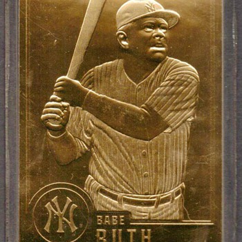 1996 - Babe Ruth Gold Card