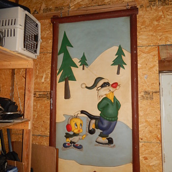 Sylvester and Tweety Ice Skating Wall Hanging