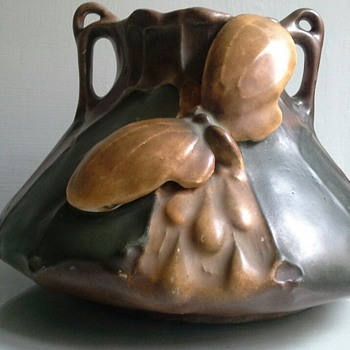 art nouveau / jugendstil butterfly amphora