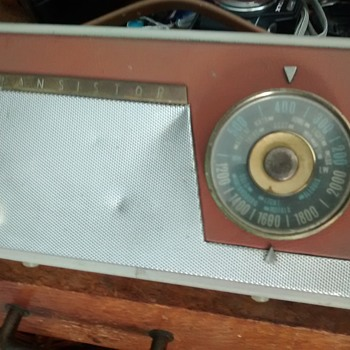 Pye Transistor radio 1960's in good working, eats batteries so expensive to run.