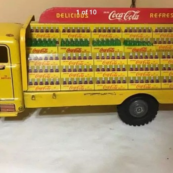 1950's Marx Coca Cola Tim toy delivery truck