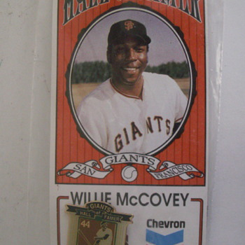 Chevrons Willie McCovey Card - Baseball