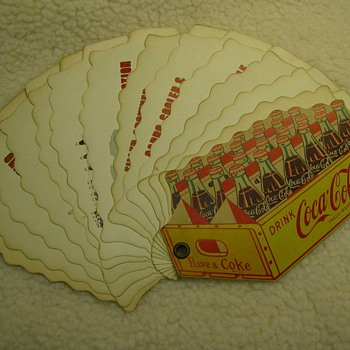Coke paper items.  Any ideas on worth? - Coca-Cola