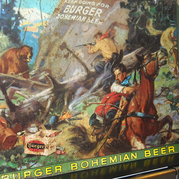 Hintermeister Burger Beer Metal Advertising Sign American Artworks Inc