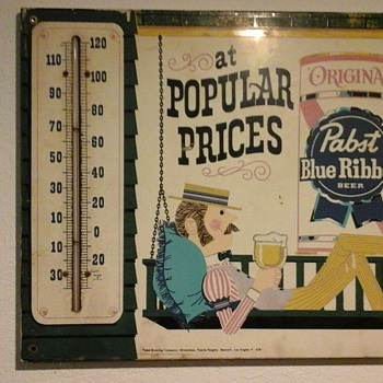 PBR thermometer - Man in porch swing - Advertising