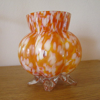 Welz six lobed footed vase