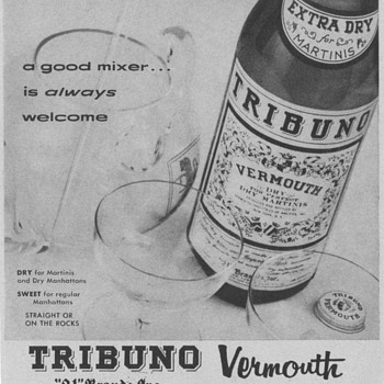 1955 Tribuno Vermouth Advertisement - Advertising