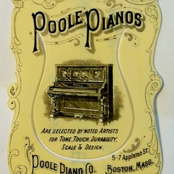 Antique Poole Pianos bookmark - Books