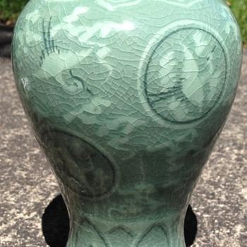 Celadon vase - Asian