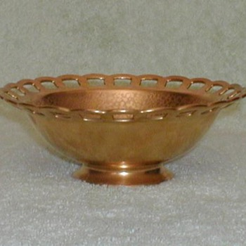 Stouffer Studio Gold Reticulated Bowl