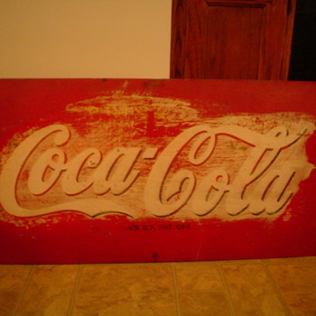 Coca cola sign, reg u.s pat. off,