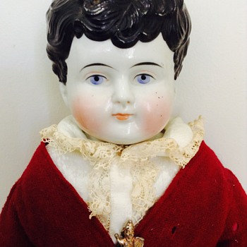 Ca. 1880's China Head Boy Doll - Dolls