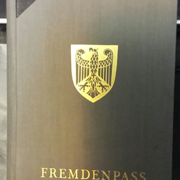 German Fremdenpass Passport for foreigners residing in the German Reich
