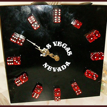 LAS VEGAS - DICE CLOCK - Clocks