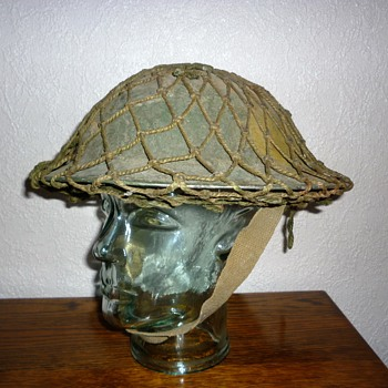 British WWII North Africa steel helmet - Military and Wartime