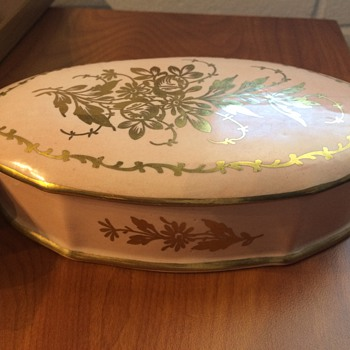 Limoges Hand Painted Powder Box - China and Dinnerware