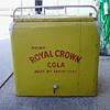 yellow royal crown cola ice chest