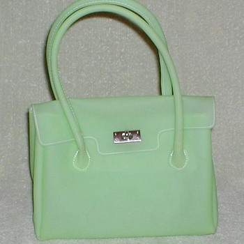 Lime Green Frosted Vinyl Handbag - Accessories
