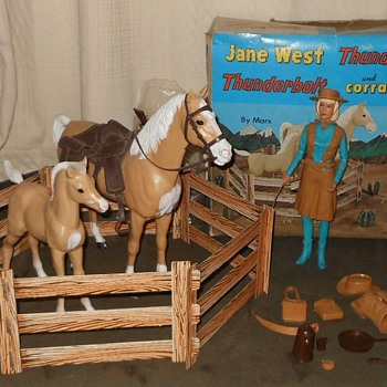 Jane West Thunderbolt Thundercolt Corral Fence Combo Set 1966
