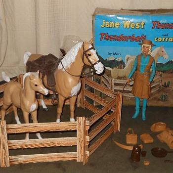 Jane West Thunderbolt Thundercolt Corral Fence Combo Set 1966 - Toys