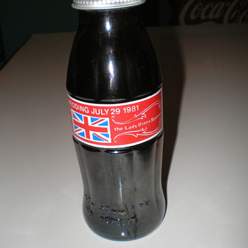 1981 Lady Diana Royal Wedding Coca-Cola Bottle