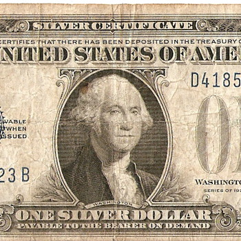 1928 Series A Silver Certificate Dollar Bill - US Paper Money